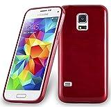 Cadorabo Coque pour Samsung Galaxy S5 Mini / S5 Mini DUOS en Rouge Cerise – Housse...