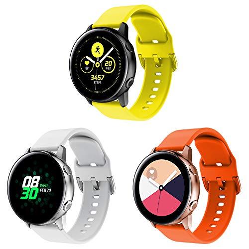 Sycreek Compatible para Samsung Galaxy Active Correa 20mm Pulsera Silicona Suave de Correa de Reloj Ajustable de Repuesto para Samsung Galaxy Watch 42mm/Galaxy Watch 3 41mm/Active 2 40mm/Active 2 44mm