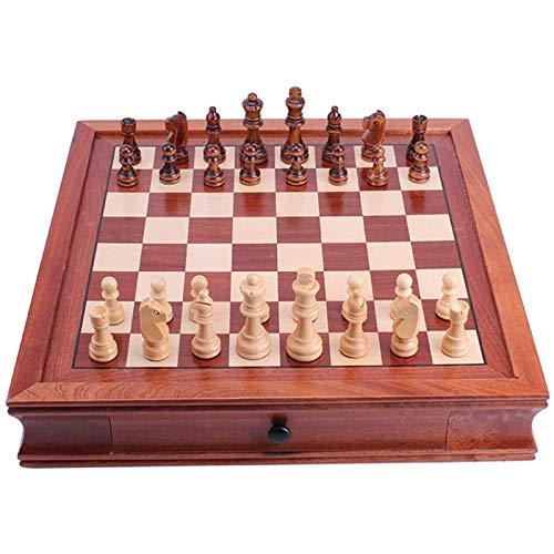 YEXINTMF Tragbares Schachspiel Set Schachmagnetische hölzerne Schach Set für Erwachsene und Kinderspiel für Erwachsene, Reiseschach-Set für Kinder (Size : Large)