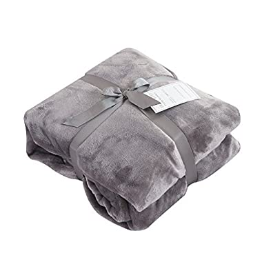 Caitlin White Throw Blanket for Couch/Sofa/Bed,Luxury Super Soft Microplush Velvet,60 x80 ,Grey