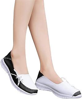 Mujer Mocasines, 2019 Zapatillas De PU del Barco con Plataforma Antideslizante Zapato Deporte Planos De Conducir Loafers L...