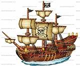 1/4 ~ Pirate Ship Birthday ~ Edible Cake/Cupcake Topper!!!