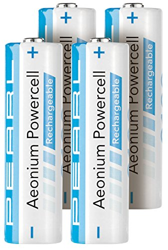PEARL Akku Batterien: Hybrid-Akku AA Mignon 2100 mAh Aeonium Powercell 4er-Set (Akkus AA)