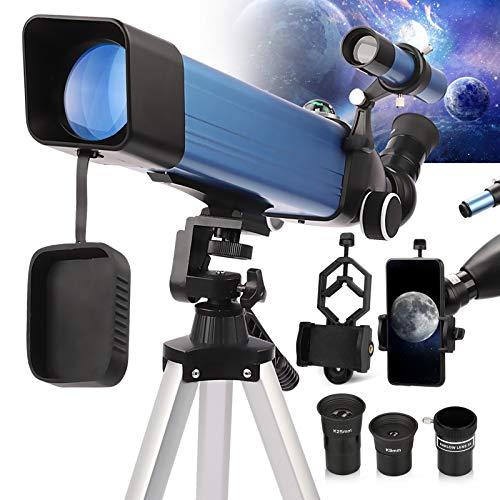 Telescopio Astronomico Professionale Adulti, Bambini 6-12 anni - 2021 Ultimo Telescopio - Portatile e Potente 20x-167x - 50060 Rifrattore