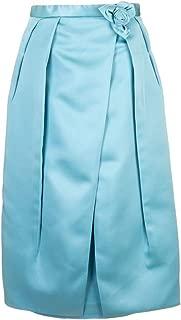 PRADA Luxury Fashion Womens P116QS1921VCYF0360 Light Blue Skirt | Fall Winter 19