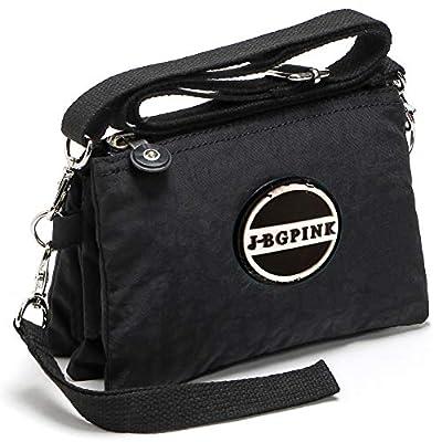 Three Layer Zipper Purse Waterproof Nylon Wallet Handbag Cell Phone Pouch Coin Purse