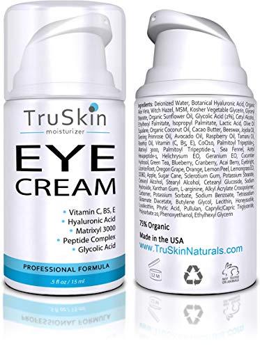 TruSkin Eye Cream, Anti-Aging Eye Treatment for Dark Circles & Delicate Skin Around Eyes, 15mL