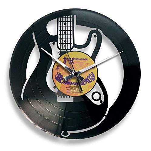 Disc'O'Clock Orologio in Vinile da Parete Lp 33 Giri Silenzioso Electric - Idea Regalo per CHITARRISTI, A Tema Chitarra ELETTRICA