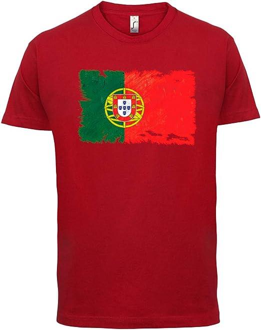 Portugal Drapeau Grunge Hommes T-Shirt Haut Portuguese Maillot de Football