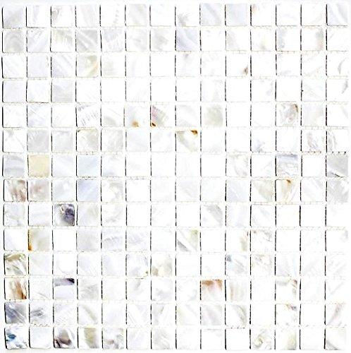 Azulejos de mosaico de nácar para pared, baño, ducha, cocina, espejo, revestimiento de bañera, 10 alfombrillas