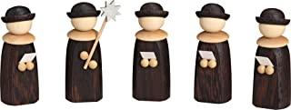 Seiffener Volkskunst 5 Figurines Christmas Choir, Height 7 cm / 3 inch, Natural, Original Erzgebirge by Seiffener Volkskunst