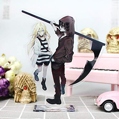 Haus Dekoration 16 cm Engel des Todes Anime Figure Acryl Stand Modell Spielzeug Ray & Zack Action Figuren Dekoration Cosplay DIY Sammlergeschenke Geschenke (Color : Beiger)