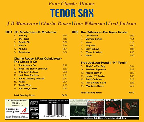 Tenor Sax - Four Classic Albums (J.R. Monterose / The Chase Is On / The Texas Twister / Hootin' 'N Tootin')