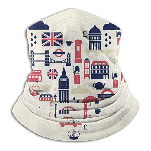 HRFKJYXG Love English Style Microfiber Tube Neck Respirabilité Masque facial Bouclier de protection Bandana Bandeau et bonnet