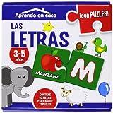 Las Letras: Puzzle Educativos, 3 - 5 Años 2 Piezas - Letras (Aprendo En Casa)