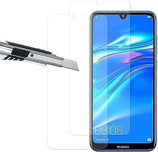 THILIVE skärmskydd kompatibelt med Huawei Y7 Pro (2019) Huawei Y7 (2019)/Huawei Y7 Prime (2019), härdat glas skärmskydd, r...