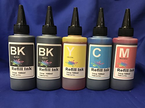 500ml Bulk Ink Refill Set for All Inkjet printerFor refillable cartridges or cis ciss Ink System only kofc