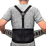Back Brace For Lifting Lower Back Support For Work Y-shape Suspenders Safety Belt With Dual Medical 3D Lumbar Support Relieve Pain, Prevent Injury - M