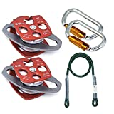 GM CLIMBING Hardware Kit for 5:1 Mechanical Advantage Pulley/Hauling/Dragging System Block and Tackle Twist Lock