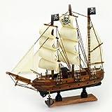 Pirate Ship Wood 9 X 9 Nautical Maritime Boat Decor New