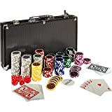 Maxstore Ultimate Black Edition Poker Set, 300 Chips de láser núcleo de Metal...