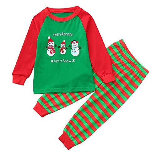 JERFER JERFER Weihnachtsbaum Druck Sets Kleinkind Baby Mädchen Lange Ärmel Top + Pants + Stirnband Sätze