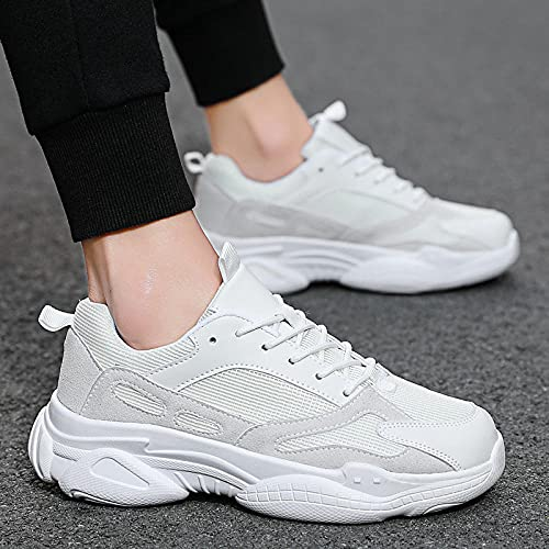 Aerlan Men's Running Shoes,Zapatos para Correr, Zapatos al Aire Libre para Hombres, Zapatos Deportivos para Caminar Casuales para Hombres-Beige_47,Zapatos de Gimnasia Zapatos Ligeros