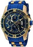 Invicta Men's Pro Diver Stainless Steel Quartz Watch with Polyurethane Strap, Blue, 26 (Model: 22431)