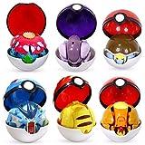 UALLL Juguete de Pikachu, Monstruos de Bolsillo Variante Modelo de Juguete Pikachu, Charizard, Venusaur, Blastoise, Mewtwo, Gyarados Modelo Muñecas Regalos para niños