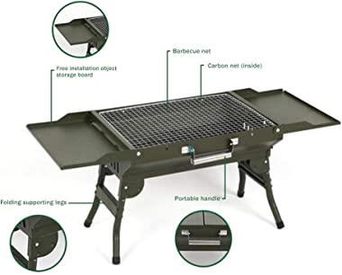 Portable Foldable Barbecue Grill Thick and Durable Charcoal Barbecue Table for Outdoor Camping Trip