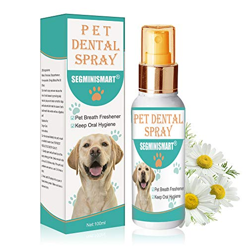 SEGMINISMART Spray Dentale per Animali,Spray Dentifricio per Cani,Spray...