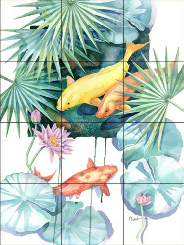 Fliesenwandbild - Tropical Pool 2 - von Paul Brent - Küche Aufkantung/Bad Dusche