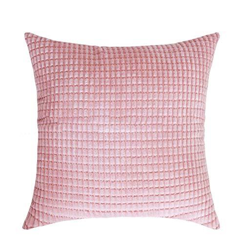 WANGLUYAO Retro Kissenhülle Große Corn Jacquard Cord Quadrat Sofa Umarmung Kissenbezug Kissenbezug Wohnzimmer Schlafzimmer Auto Kissenbezug Kissen Set, 50x50cm, 2er Pack-Pink