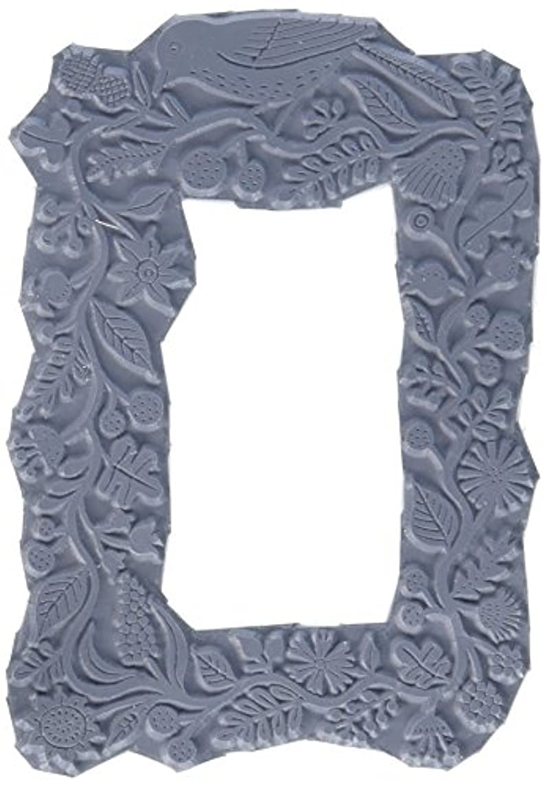 Magenta Cling Stamps, 3 by 4.25-Inch, Vine Frame
