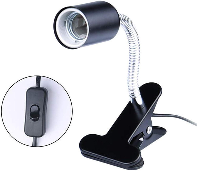Clamp Light Fixture for Reptile,no Bulb Included,Flexible Basking Heating Light Bulb Clipon Holder, Terraium Habitat Lighting Stand