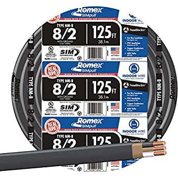 Southwire 28893602 Nonmetallic With Ground Sheathed Cable Black