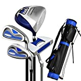 PQXOER-SP Palos de Golf Juego de Principiantes de Golf para niños Niños 3-12 años Putter de Golf Práctica Completa Juego de Palos de Golf Semi-Set para Hombres Ejercitador de Postes