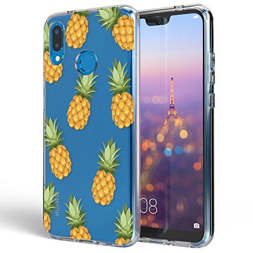 NALIA Funda Carcasa Compatible con Huawei P20 Lite, Motivo Design Movil Protectora Ultra-Fina Silicona Cubierta, Goma Gel Estuche Telefono Bumper Ligera Cover Smart-Phone Case, Designs:Pineapple