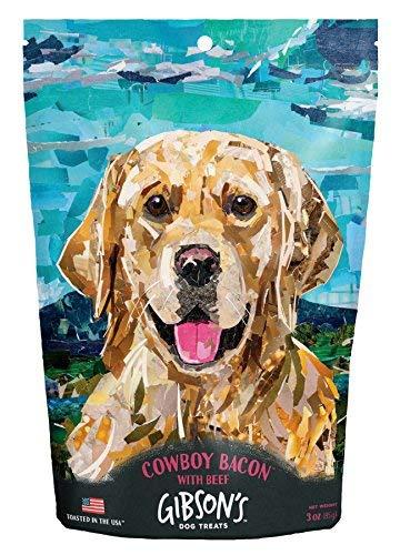 Gibsons Cowboy Bacon with Beef - Human Grade USA Soft Jerky Dog Treats, 3 oz