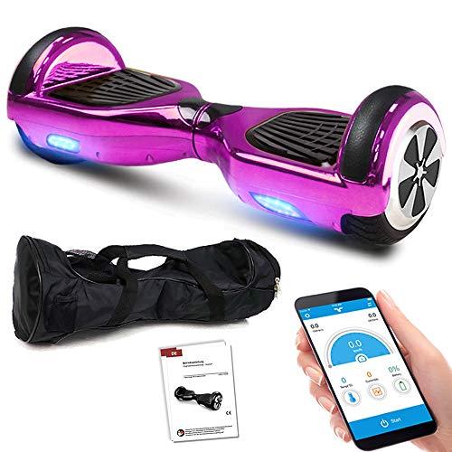 Balance Scooter 6,5 Zoll 600W-Motion V.5 mit App Funktion, Bluetooth Lautsprecher, Kinder Sicherheitsmodus, Elektro Self Balance E-Scooter, 600 Watt (PinkChrome)