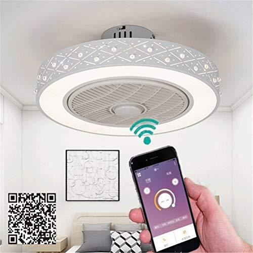 Moderner LED Deckenventilatoren mit licht und fernbedienung Lüfter Ultradünner Dreifarbiger Dimmbarer Lüfter mit Fernbedienung+Unterstützung Mobile APP Steuerung Deckenventilatoren mit beleuchtung,D