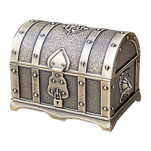 SUIWO Caja de joyería for la joyería de las mujeres del organizador del recorrido del pendiente del collar de la joyería de los anillos de la chispa titular joyería de la boda del caso del pirata Cofr