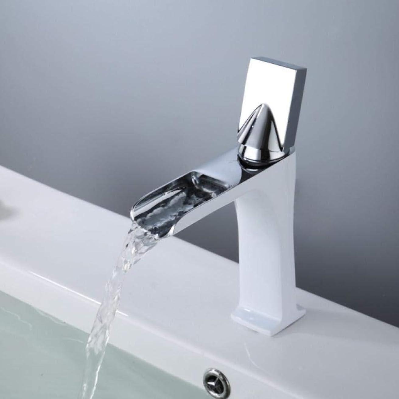 財政命令リードZxyan 蛇口 立体水栓 タップタップ蛇口アンティークブロンズバスルームの蛇口ホットコールドウォーターミキサークレーンデッキは、単穴バースタップクローム仕上げマウント トイレ/キッチン用