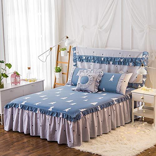 HPPSLT Protector de colchón - Protector de colchón antialérgico Sábana de algodón de una Sola pieza-18_180 * 200cm