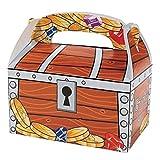 Elfen und Zwerge - Schatztruhe - Kiste für den Piratenschatz - Box als Geschenkverpackung oder Mitgebsel - aus Karton - 6 Stück