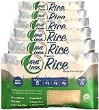 no calorie rice - Organic Well Lean Rice, 6 Pack, 9.52 oz, Premium Shirataki Konjac Pasta, Odor Free, Keto Friendly, Non Gmo, Ready to Eat, Low Calorie, Low Carb, Gluten Free, Soy Free, Vegan, Diet Food