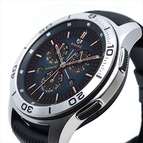 Ringke Bezel Styling Kompatibel mit Galaxy Watch Hülle [46mm] Lünette Schutz Ring Kratzfest [Edelstahl] GW-46-16