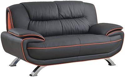 Amazon.com: Blackjack muebles 168-l-brown 168-brown-l piel ...
