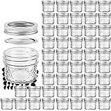VERONES Mason Jars Canning Jars, 4 OZ Jelly Jars With Regular Lids and Bands, Ideal for Jam, Honey, Wedding Favors, Shower Favors, Baby Foods, DIY Magnetic Spice Jars, 50 PACK