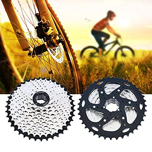 Piñón Rueda Libre, Cassette para Bicicleta, Ligero Rueda Libre 9V para MTB Bicicleta de Carretera Compatible con Shimano Sram (Excepto Sram XD),Silver 9s 11~40t